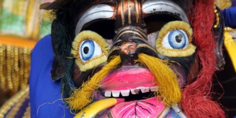 Mask of bolivian traditional carnival in Potosi, Bolivia