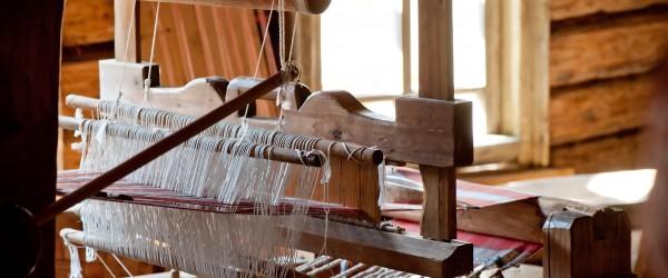 Russian loom in a village house