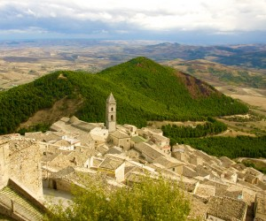 veduta del paese dal castello