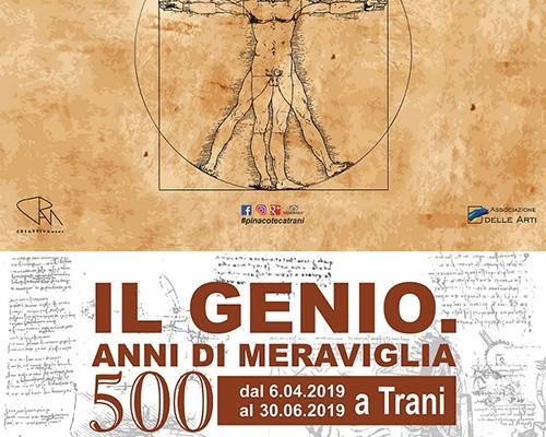 Manifesto definitivo Mostra Il Genio, 500 anni di meraviglia