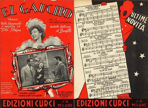 Spartito El Gaucho - Archivio Schipa - Carluccio